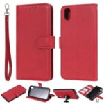 Magnetic Detachable 2-in-1 Leather Wallet Stand Shell for Huawei Honor 8S/Y5 (2019) – Red