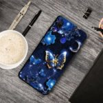 Pattern Printing TPU Cover Case for Xiaomi Redmi 7 – Blue Butterfly