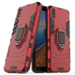 Cool Guard Ring Holder Kickstand PC TPU Hybrid Case for Xiaomi Redmi 7A – Red