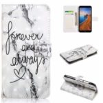 Light Spot Decor Patterned Leather Wallet Case for Xiaomi Redmi 7A – English Characters
