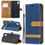 Assorted Color Jeans Cloth Leather Wallet Case for Xiaomi Redmi 7A – Dark Blue