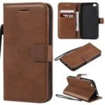 Leather Stand Case with Card Slots for Xiaomi Redmi Go – Brown