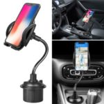 360 degrees Rotation Adjustable Cup Holder Phone Bracket with Long Neck Removable Bracket