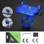 ROCKBROS Bicycle Bike Mount Aluminum Alloy Shockproof Mobile Phone Holder Bracket – Blue