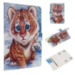 Pattern Printing Universal Leather Wallet Case for 8-inch Tablet PC – Tiger