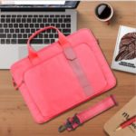 WIWU Bussiness Style Decompression Waterproof Multi-functional Handbag for 15.4-inch Notebooks Laptops Macbook – Red