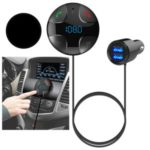 BC29B BC29B Smart Car Charger FM Transmitter Bluetooth Music Player Handsfree Call USB Charging – Black