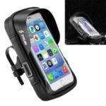 SZ-B17-3 Universal 5.8-inch Waterproof Bicycle Motorcycle Holder Bag Bike GPS Handlebar Mount Case