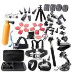 45 in 1 Camera Accessories Cam Tools for Outdoor Photography Cameras Protection Tool for Gopro Hero 5 4 3 2 1 Xiaomi Yi Xiaomi Yi 4 k SJCAM SJ4000 SJ5000 SJ6000 SJ7000 EKEN H9R H8W