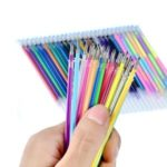 24/48 Candy-colored Pencil Student Children Painting Class Cartridges Neon Flashing Chalk Art Pens – 48 Colors