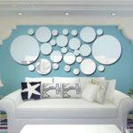 26pcs/set Acrylic Polka Dot Wall Mirror Stickers Mural Stickers DIY Art Decal