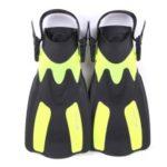 WHALE Adult Short Snorkeling Swim Fins Flippers with Adjustable Heel