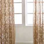 Polyester Semi-Blackout Grommet Top Window Curtain Panel Living Room Bedroom Hotel Voile Curtain Drape – Khaki