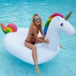 Giant Inflatable Unicorn Pool Swimming Raft, Size: 2.75 x 1.3 x 1.2m