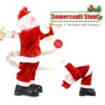 Santa Claus Somersault Stunt Christmas Ornament Battery Doll Toys Gifts Decorations