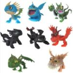 8PCS Toy How to Train Your Dragon Action Figures Set: Toothless Night Fury Nadder