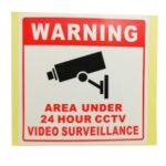 PVC Wallpaper Wall Paper Home CCTV Video Surveillance Security Camera Alarm Sticker