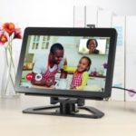 Speaker Stand Aluminum Bracket for Amazon Echo Show 2nd Smart Speaker 360 Rotation Tilt Stand – Black