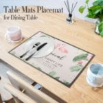 Placemat Table Mats for Dining Table Table Mats PVC Skid-proof Heat-Resistant for Kitchen