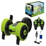 Remote Control Race Car Toy Stunt RC Off Road Three Wheel Truck – Green