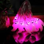 Battery Operated 2.5m 20-LED 3D Ghost LED String Lamp for Halloween Decoration – Pink
