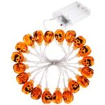For Halloween 3D Elliptical Pumpkin 20-LED 2.5m String Light Battery Operated
