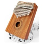 Kalimba Thumb Piano 17 Keys Finger Piano Percussion Instrument with Accessories