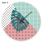 Leaves Pattern Round Acrylic Wall Clock Decorative Clock – APC034a