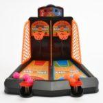 Tabletop Basketball Shooting Game Mini Classic Arcade Desktop Game Basketball Hoop Set – Orange