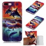 Animal Pattern IMD Soft TPU Phone Casing for iPhone 8 Plus/7 Plus 5.5 inch – Dolphin