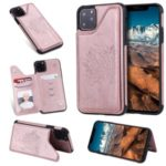 Anti-fall Imprinted Cat Tree Leather Coated TPU Covering for iPhone (2019) 6.1-inch – Rose Gold