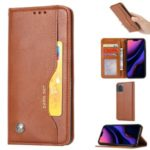 Auto-absorbed PU Leather Stand Wallet Case for iPhone (2019) 5.8-inch – Light Brown