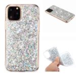 Glittery Sequins Acrylic TPU Hybrid Phone Cover for iPhone (2019) 5.8-inch – Silver