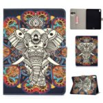 Pattern Printing PU Leather Protection Shell [Wallet Stand] for Apple iPad Pro 11-inch (2018) – Elephant