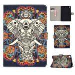 For iPad mini (2019) 7.9 inch/4/3/2/iPad Mini Universal Printing PU Leather Stand Wallet Case Shell – Elephant