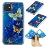 Glitter Sequins Inlaid Style TPU Phone Casing for iPhone (2019) 5.8-inch – Butterflies