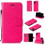 Imprint Elephant Leather Phone Shell for iPhone (2019) 6.1-inch – Rose