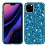 Glittering Sequins Electroplating TPU+PC Phone Shell for iPhone (2019) 5.8-inch – Cyan