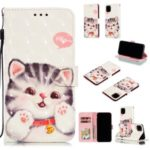 For iPhone (2019) 6.5-inch 3D Printing Leather Wallet Casing Cover – Lovely Cat