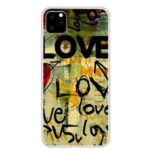 Pattern Printing Soft TPU Phone Shell for iPhone (2019) 6.5-inch – LOVE