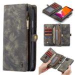 CASEME 008 Series Split Leather Wallet Detachable Phone Case for iPhone (2019) 5.8-inch – Grey