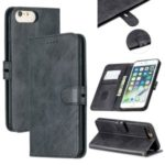 Leather Stand Wallet Phone Case with Lanyard for iPhone 6/6s/7/8 Plus 5.5 inch – Black