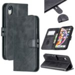 Wallet Leather Stand Case Phone Covering for iPhone XR 6.1 inch – Black