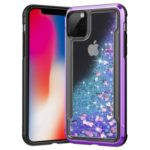 Liquid Glitter Powder Quicksand Plated PC + TPU Hybrid Phone Case for iPhone 11 Pro 5.8 inch (2019) – Purple
