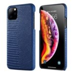 Lizard Pattern Genuine Leather Coated PC Case for iPhone 11 Pro Max 6.5 inch – Blue