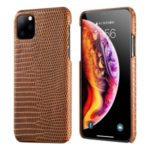 Lizard Pattern Genuine Leather + PC Phone Case for iPhone 11 6.1 inch – Brown