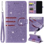 Glitter Powder Leather Wallet Stand Case for iPhone 11 Pro Max 6.5 inch – Purple