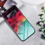 Gradient Color Tempered Glass + PC + TPU Hybrid Case for Samsung Galaxy S10 Plus – Colorful Nebula