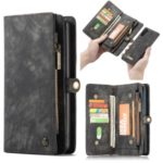 CASEME Multi-function 2-in-1 Wallet TPU+Split Leather Phone Casing for Samsung Galaxy Note 10 – Black