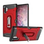 Armor Rugged PC + TPU Hybrid Back Case with Kickstand for Samsung Galaxy Note 10 Plus – Red